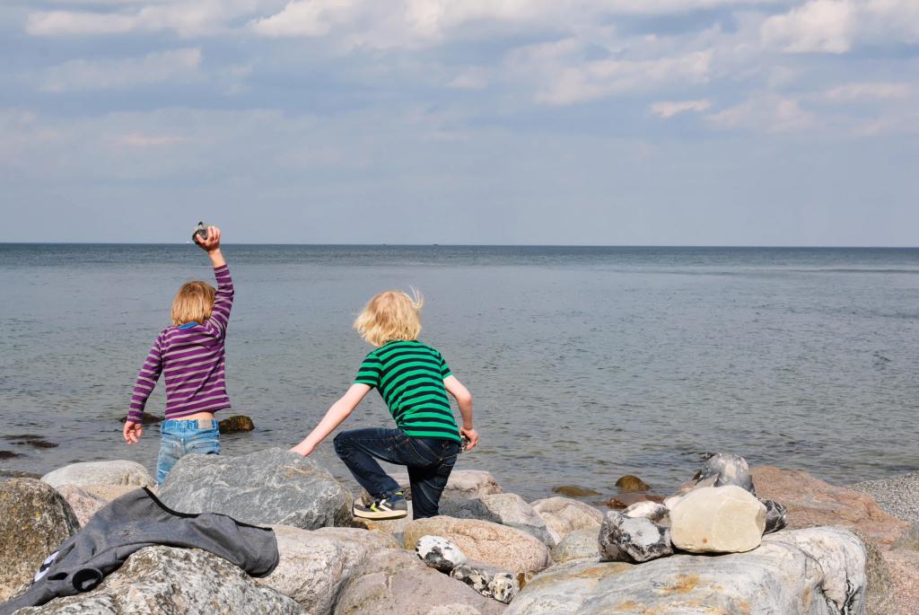 Die Söhne am Brodtener Ufer