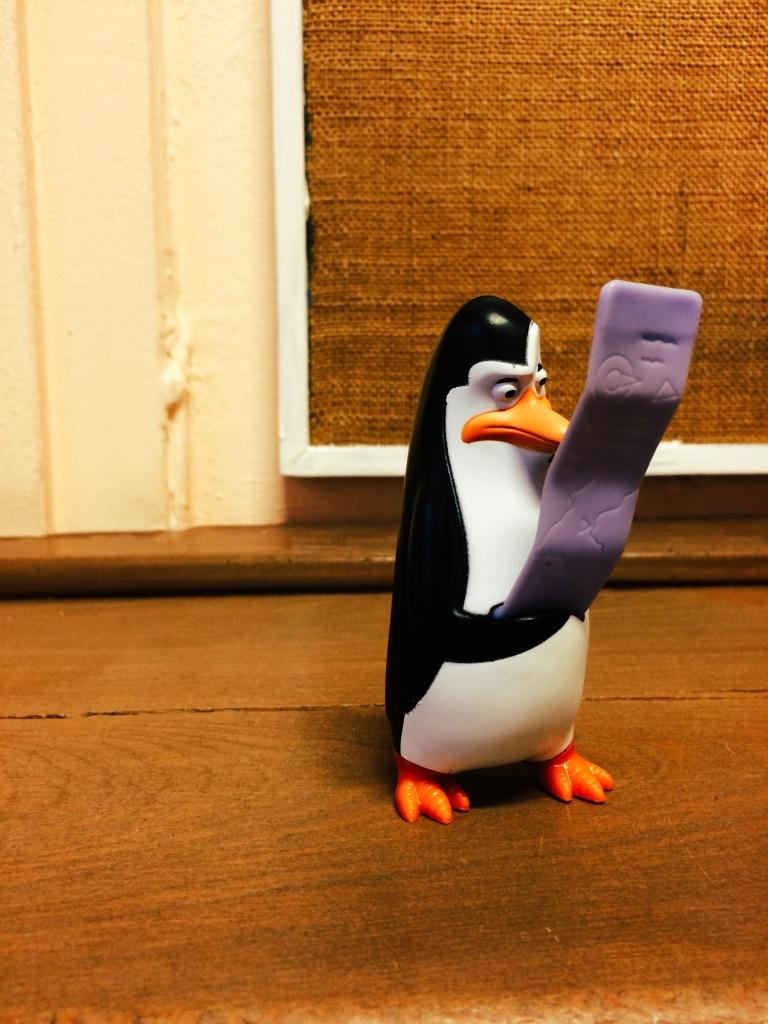 Pinguin mit To-Do-Liste
