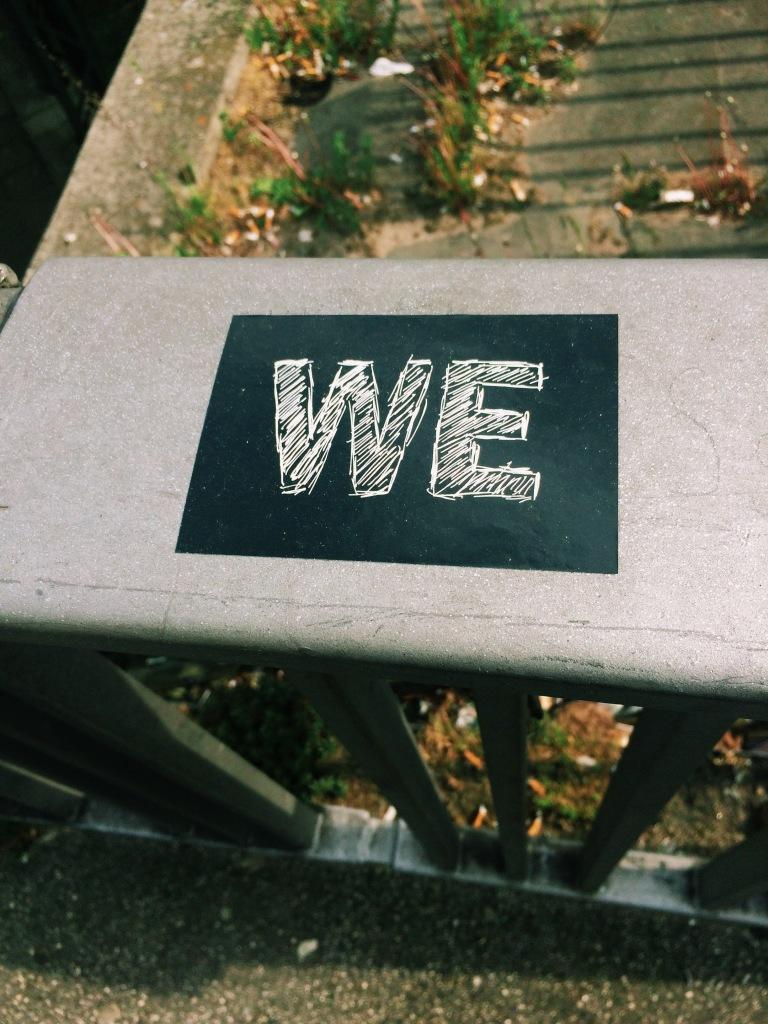 """Zettel """"We"""""""