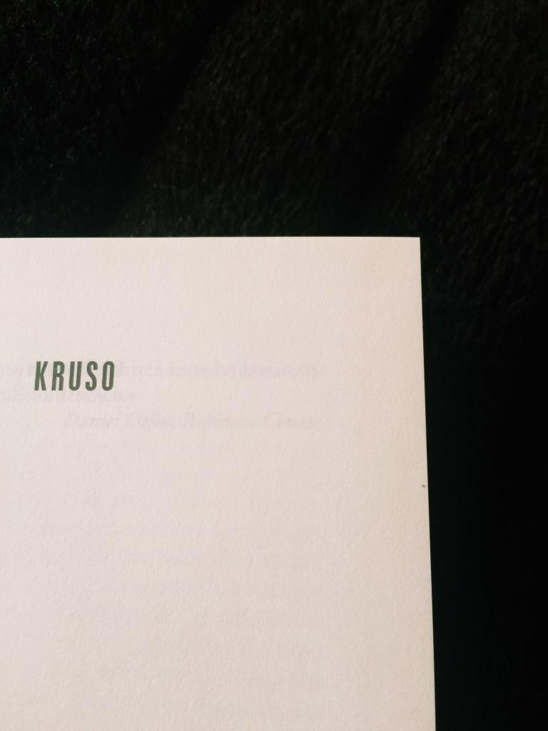 Titelblatt Kruso