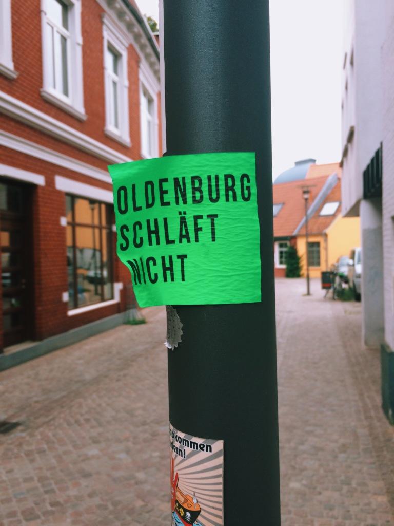 Zettel - Oldenburg schläft nicht