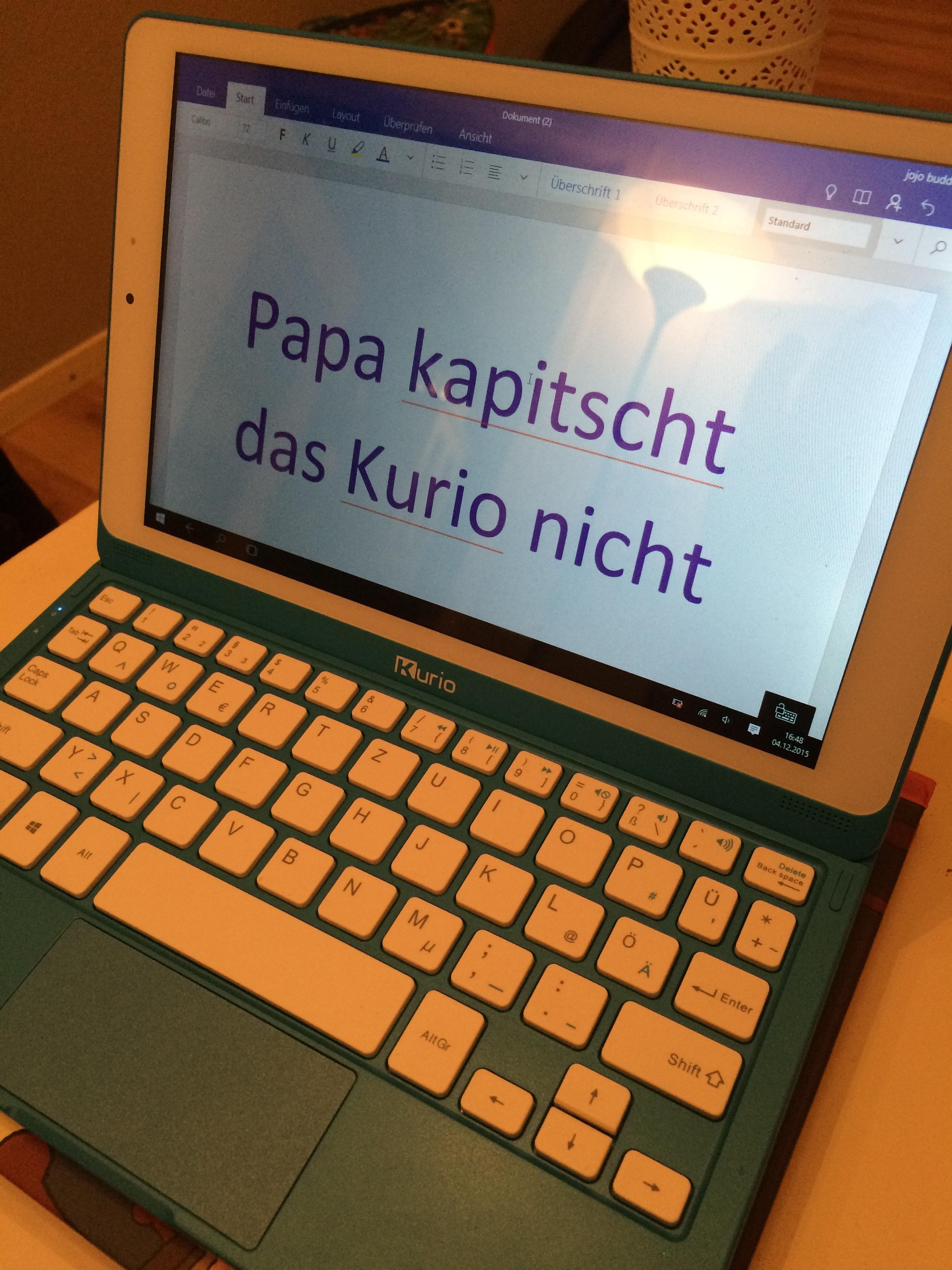 """Papa kapitscht das Kurio nicht"""
