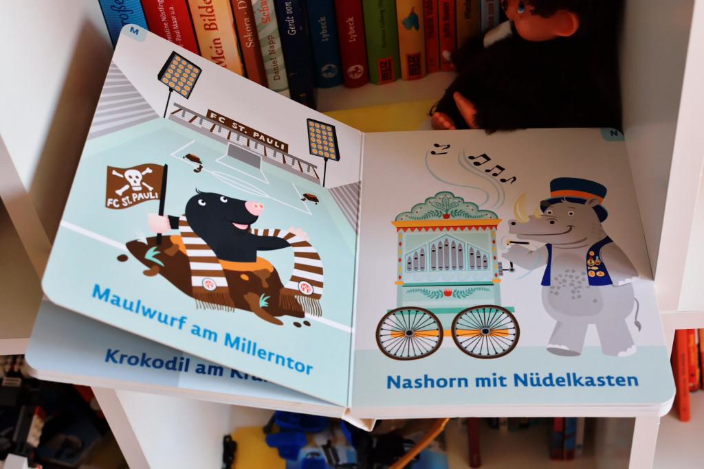 Bilderbuchbild: Nashorn mit Nüdelkasten