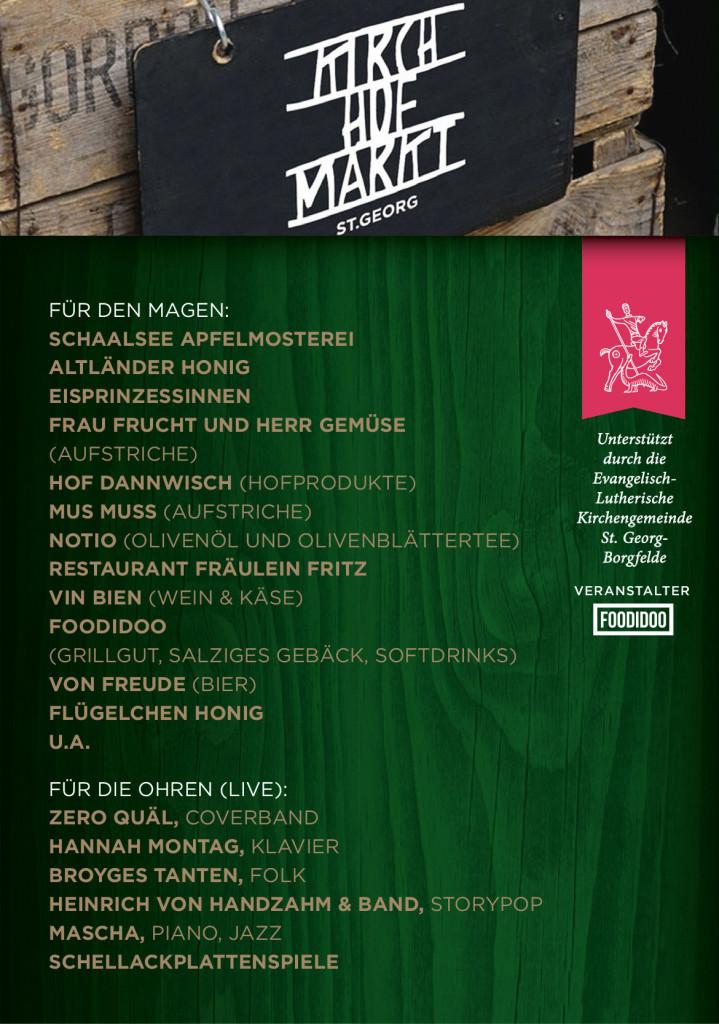Plakat Kirchhofmarkt