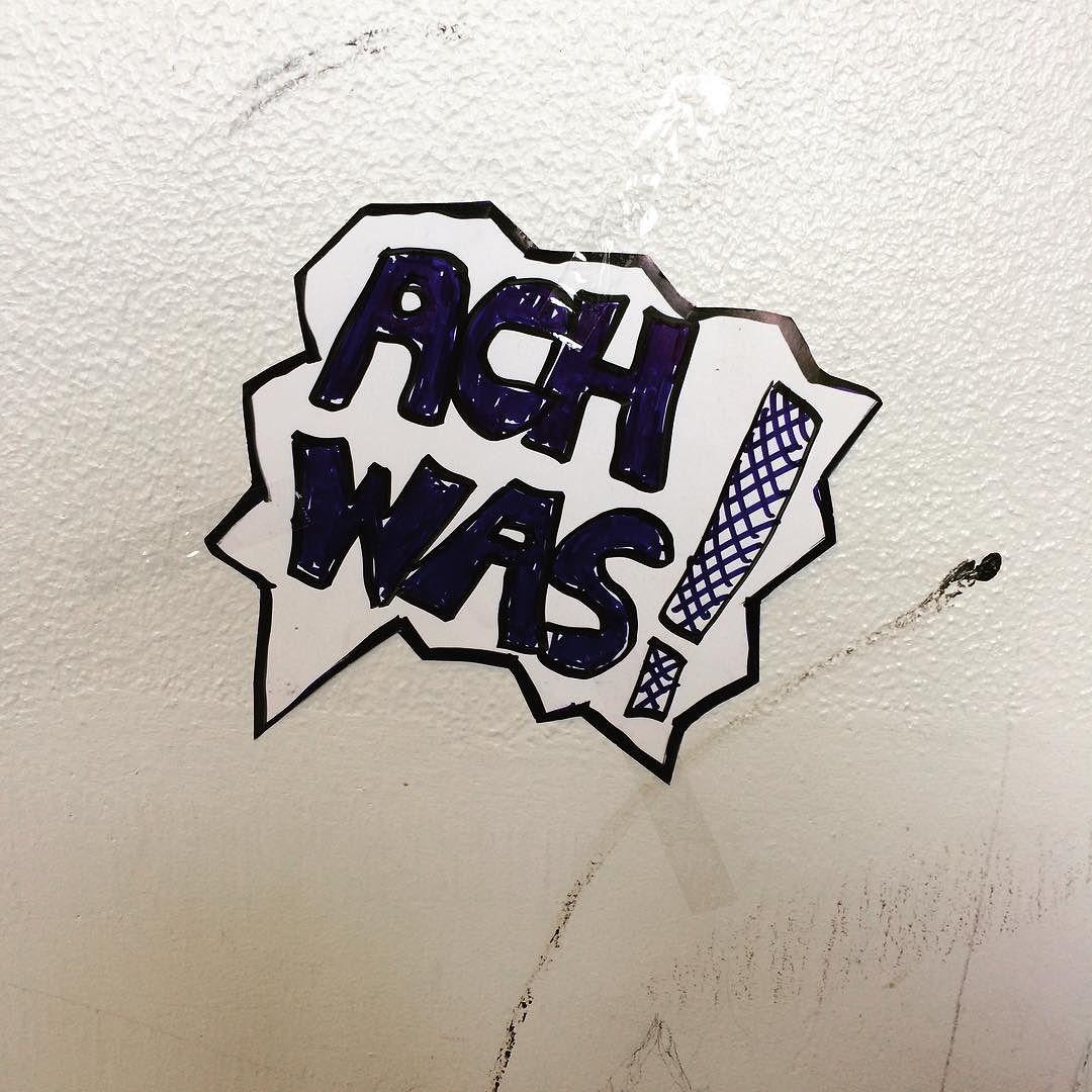 "Schriftzug ""Ach was"""