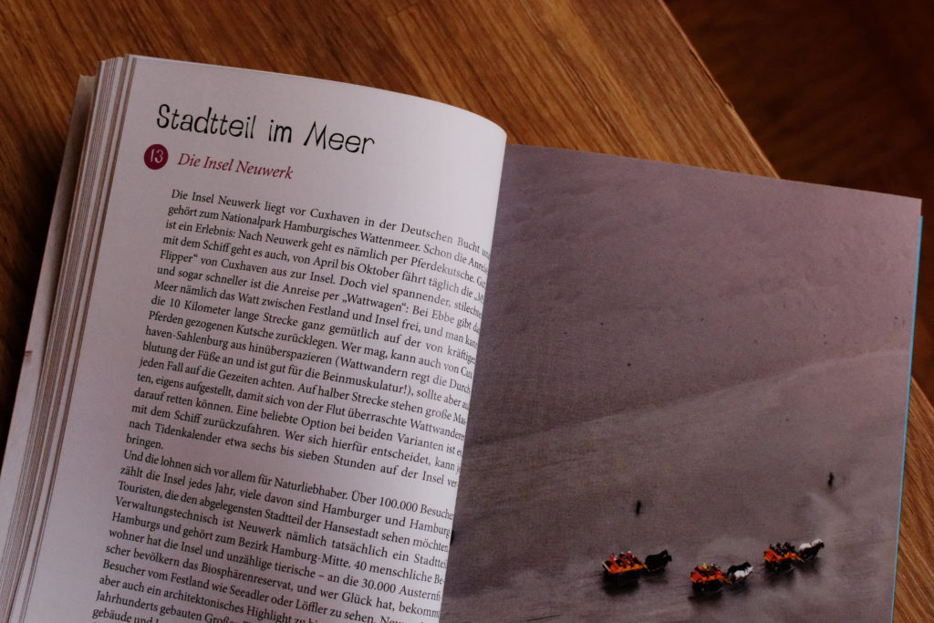"""Eine Seite aus """"Glücksorte in Hamburg"""""""