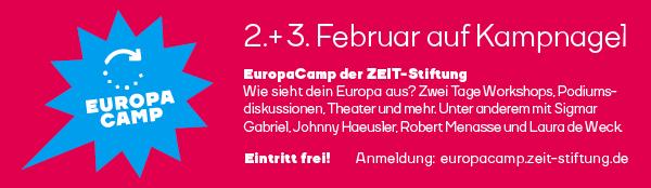 Anzeige Europacamp der Zeitstiftung