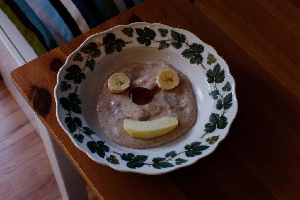 Ein Teller mit Brei