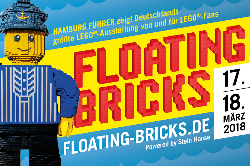Werbebanner Floating Bricks