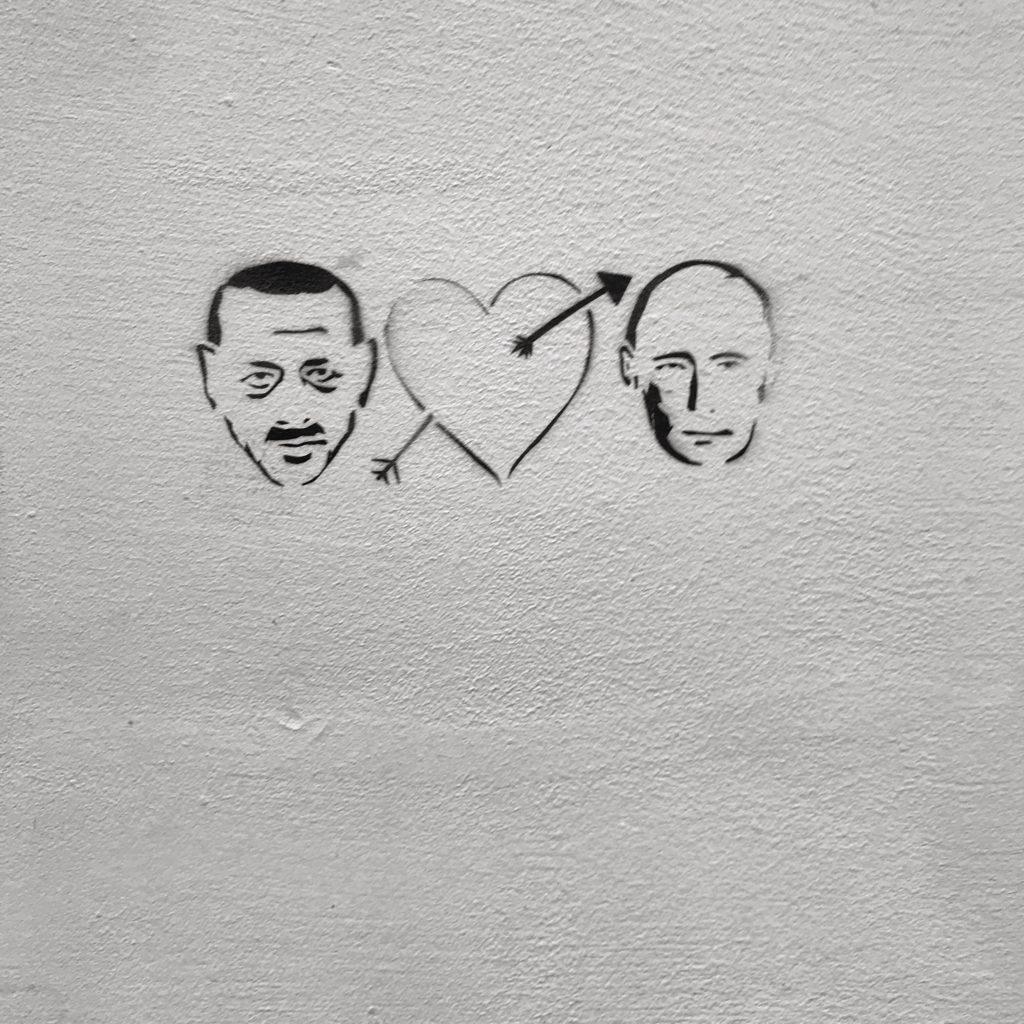 Graffiti Putin und Erdogan