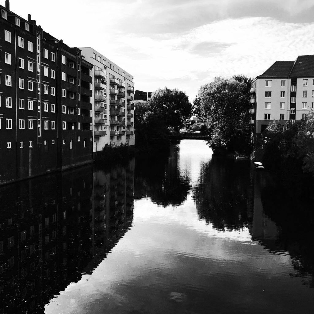 Ein Fleet in Hamburg Hamm