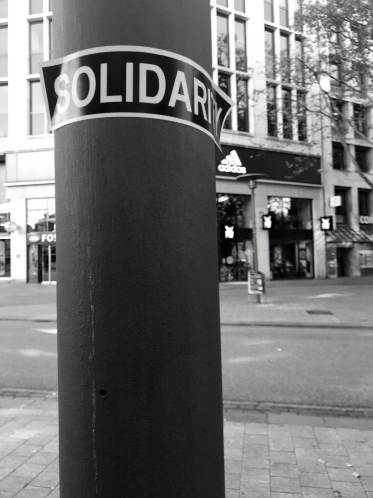 Aufkleber Solidarity
