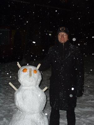 Buddenbohm mit Schneemann