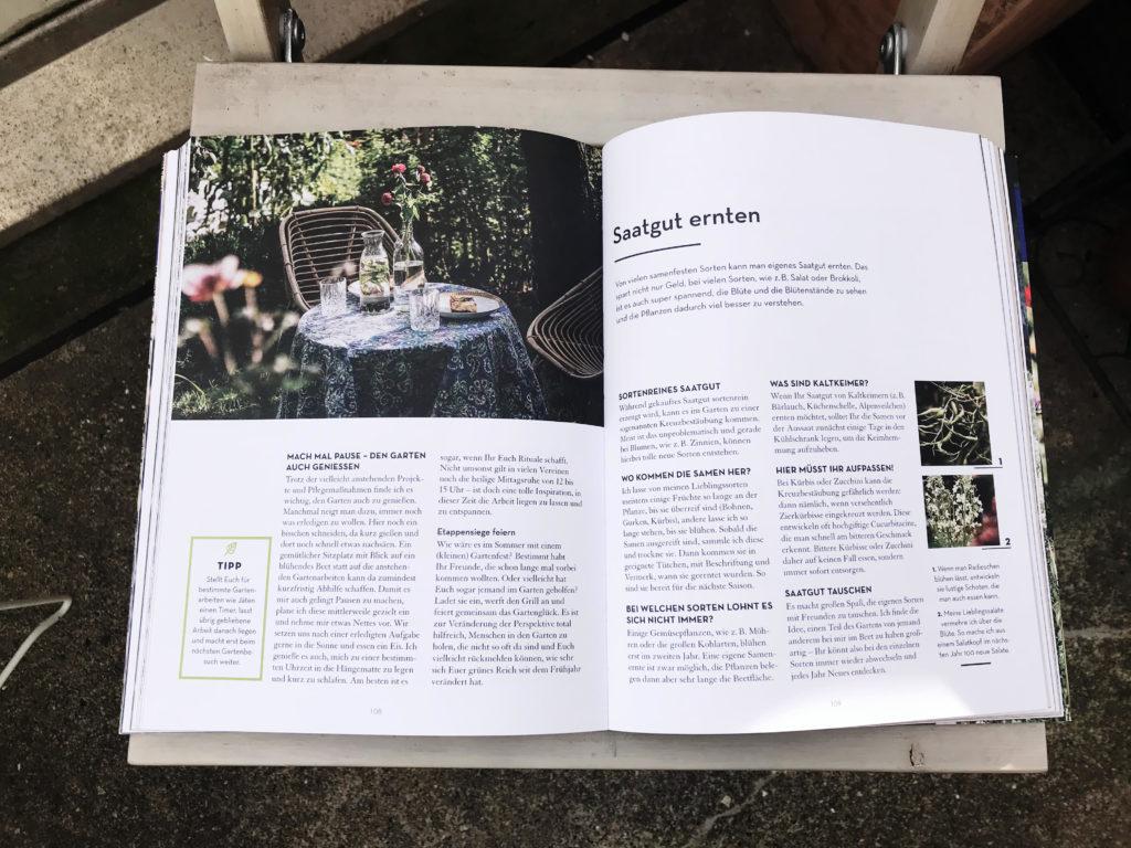 """Eine Seite aus dem Buch """"Abenteuer Garten"""""""